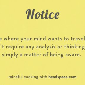 A Short Exercise in Mindful Cooking