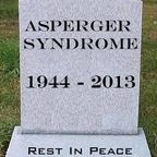 Gravestone: Asperger Syndrome 1944 - 2013