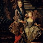"""Louis XV with Marie Anne Victoire d'Espagne by François de Troy, Pitti"""" by François de Troy - Web Gallery of Art"""