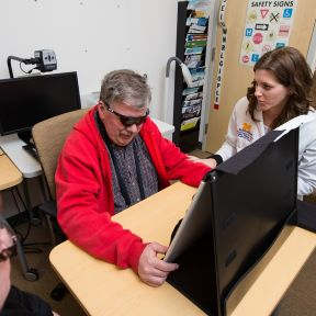 A Blind Man Sees With Technology ... and Practice
