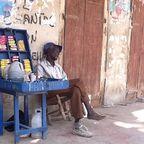 street vendor in Leogane, Haiti
