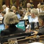 Members of the Conn State House in session