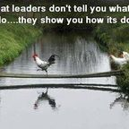 Authentic leaders lead by example