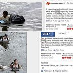 looting vs finding in Katrina and Japan