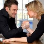 Couple Arm-Wrestling