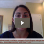 Video Interview: Applying to Masters Programs in Psychology