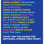 Screen Free Week is Just around the Corner!