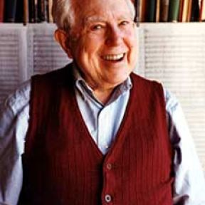 Composer Elliot Carter-- 100 and still blooming.