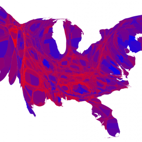 What Do We See in the Electoral Map?