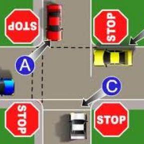 Four-Way Stop Sign