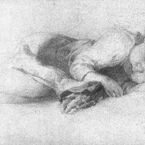 Pencil Drawing of Sleeping Child, Vanderpoel