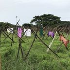 Outdoor commercial laundry in Kochin, India.