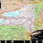 New York state map