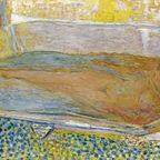 """Pierre Bonnard, """"La Grande Baignoire"""" (Nu), 1937–1939. Huile sur toile, 94 × 144 cm. Collection privée"""