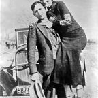 Bonnie Parker, Clyde Barrow, between 1932-34.