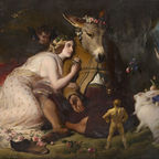 Edwin Landseer - Scene from A Midsummer Night's Dream. Titania and Bottom (1848)