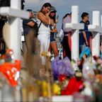 Mourners after the shooting in El Paso, Texas in 2019.