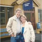 Ken Ring and Sue Blackmore at an NDE conference in Flora, Norway in 1989