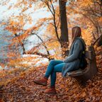 Migraine Sufferer in the Beauty of Fall
