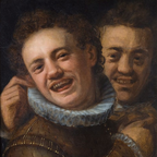 Two Men Laughing by Hans von Aachen, 16th cent