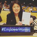 Kristin Meekhof at the UN -Photo by Kristin Meekhof