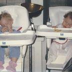 (Image by Randi Hutter Epstein): My Sleep Deprived Twins, Joey & Martha, circa 1997
