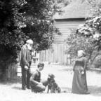 Count Tolstoy, wife, son and dog. From Wikimedia commons. Public domain