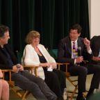 panel: Maya Forbes (not shown), Imogene Wolodarsky, Mark Ruffalo, Hara Marano, John Gartner, Greg Dillon (photo by Devra Berkowitz)