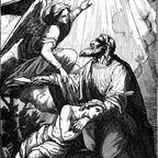 Wikimedia Commons: Abraham offering up Isaac by Charles Foster, public domain