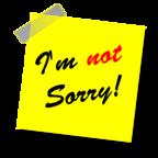 """""""I'm Not Sorry"""" by Maklay62 / Pixabay / CC0 Public Domain"""