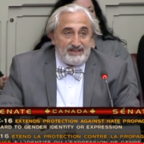 Screenshot of my address in front of the Canadian Senate