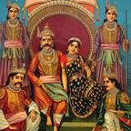 draupadi and husbands: wikipedia, public domain