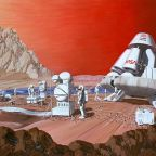 """Mars mission"" by Les Bossinas of NASA Lewis Research Center. Licensed under Public Domain via Wikimedia Commons - http://commons.wikimedia.org/wiki/File:Mars_mission.jpg#/media/File:Mars_mission.jpg"