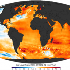 """NOAA sea level trend 1993 2010"" by Giorgiogp2 - Own work. Licensed under CC BY-SA 3.0"