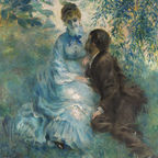 Auguste Renoir: Lovers. Public domain {{pd-1923}}