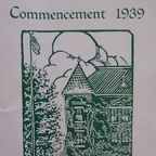 Commencement 1939 Program Photograph Copyright © 2016 by Susan Hooper