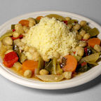 Rainer Zenz: Couscous with vegetables and chickpeas (creative commons license)