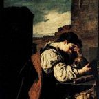 """Melancholy"" (circa 1620) by Domenico Fetti, Louvre Museum, Wikimedia Commons, Public Domain"