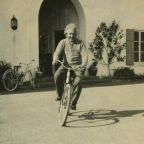 Einstein on Bicycle/Labeled for Reuse