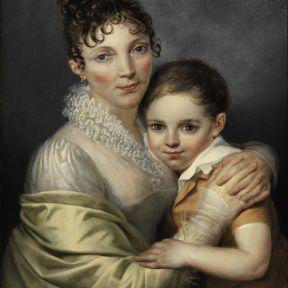 François Joseph Navez (attr) Doppelbildnis Mutter und Sohn c1820 Wikimedia Commons