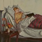 """The Sick Girl"" by Michael Ancher (Public Domain)"