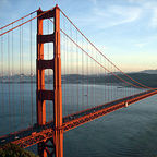 The Golden Gate Bridge, photo by Rich Niewiroski, Jr., Wikimedia Commons