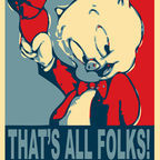 Porky Pig That's All Folks by AngryDogDesigns on Flickr