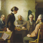 Robert Harris: A Meeting of the School Trustees. Source Wikimedia (Public Domain)