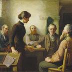 Robert Harris: A Meeting of the School Trustees. Source Wikimedia (Public Domain)