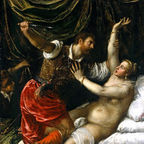 Tarquin and Lucretia by Titian, labeled for reuse, Wikipedia