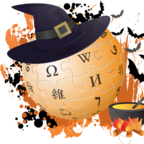 """Wikipedia Halloween's Day"" by TownDown - Own work. Licensed under CC BY-SA 3.0 via Wikimedia Commons - https://commons.wikimedia.org/wiki/File:Wikipedia_Halloween%27s_Day.png#/media/File:Wikipedia_Halloween%27s_Day.png"