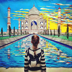 Zoe and the Taj Mahal by Jenni C Flickr Licensed Under CC BY 2.0
