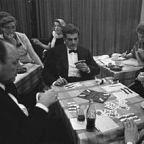 Omar Sharif at the bridge table/Wikipedia Commons