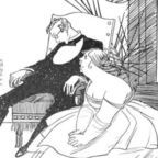 """Rea Irvin for the short story """"Why He Married Her: The Romance of a Master Mind"""" by Ellis Parker Butler, published in The Green Book magazine, volume 15, in 1916"""